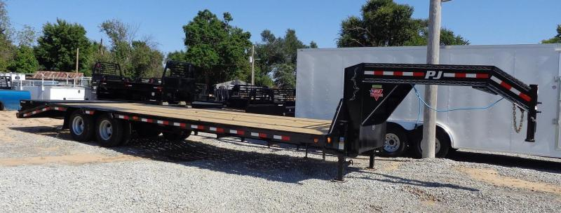 "2021 PJ Trailers 102"" x 32' Low-Profile Flatdeck with Duals"