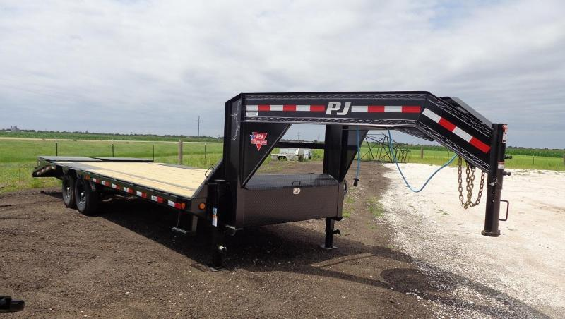 "2021 PJ Trailers 102"" x 25' Low-Pro Flatdeck with Singles (LS) Flatbed Trailer"