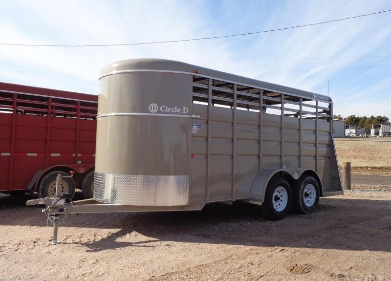 2021 Circle D 6' x 16' Livestock Trailer