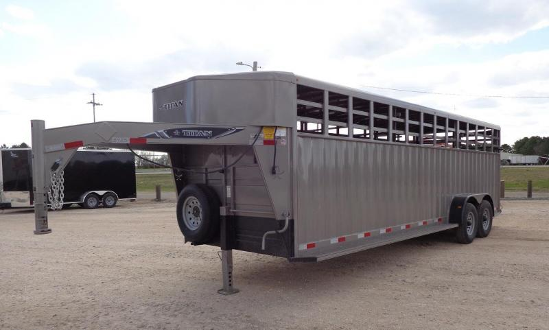 2020 Titan Rancher 6'8 x 24' Livestock Trailer