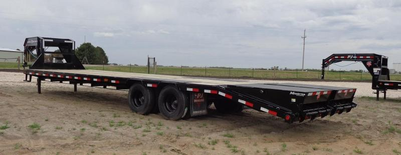 "2021 PJ Trailers 102"" x 32' Low-Pro Flatdeck with Duals (LD)"