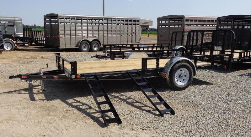 2021 PJ 14' x 77 in. Single Axle Channel Utility