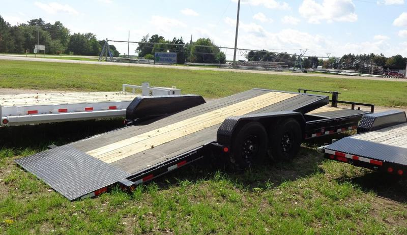 2021 PJ Trailers 22' x  6 in. Channel Equipment Tilt (T6) Equipment Trailer