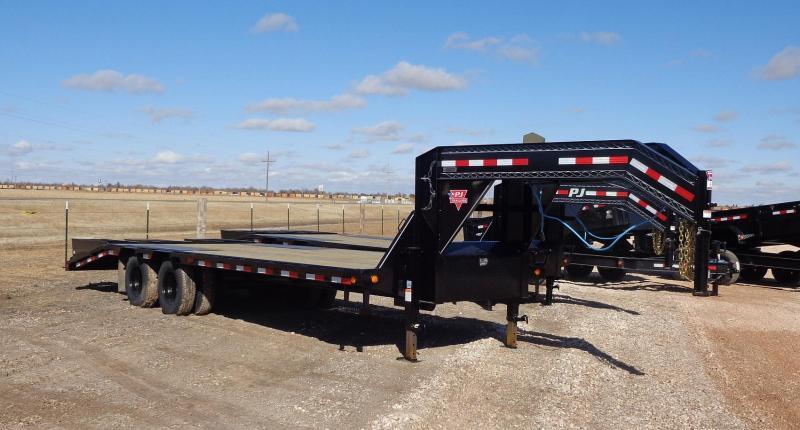 "2021 PJ Trailers 102"" x 25' Low-Profile Flatdeck with Duals"