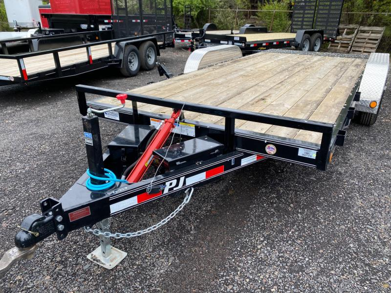 2020 PJ Trailers Hydraulic Quick Tilt 18 Car / Racing Trailer