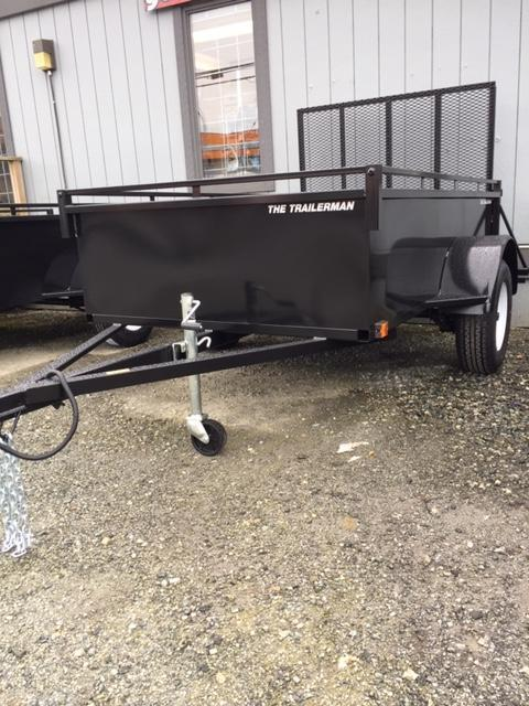 2021 The Trailerman 5x8 steel box with ramp Utility Trailer