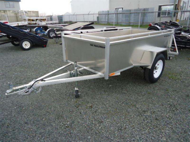 2021 Trailerman 4x8 Aluminum Box Utility Trailer