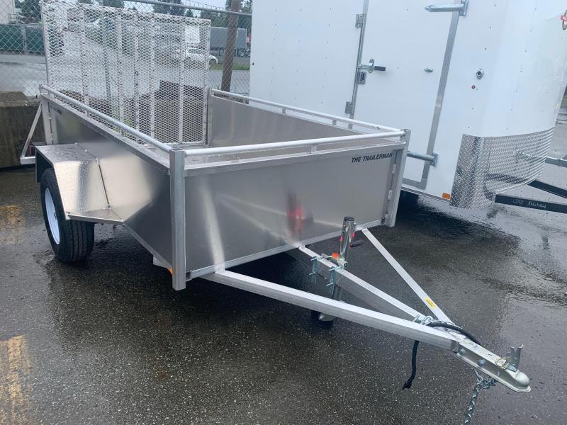 2021 Trailerman 5x8 ALUMINUM BOX W/RAMP Utility Trailer