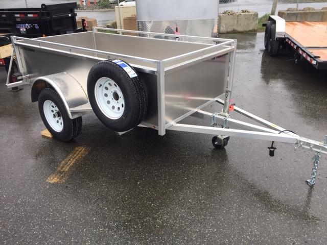 2021 The Trailerman 4 X 8 Aluminum box Utility Trailer