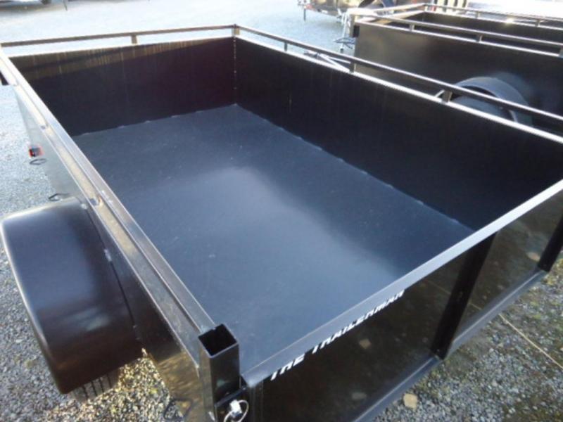2021 Trailerman 4x8 Steel Box Utility Trailer
