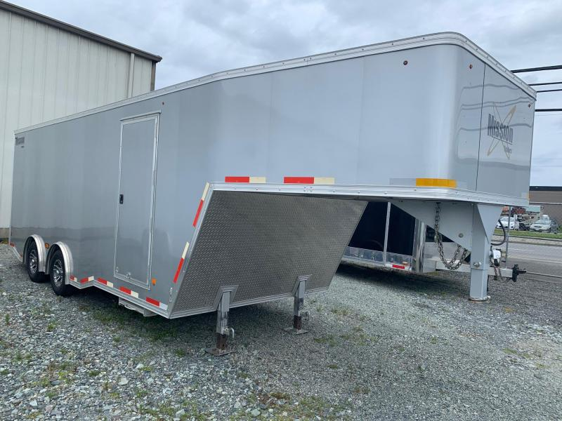 2018 Mission 8.5X28 GOOSENECK Car / Racing Trailer