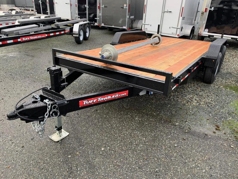 2020 Tuff Trailer 7x16' 10K RAMP Flatbed Trailer