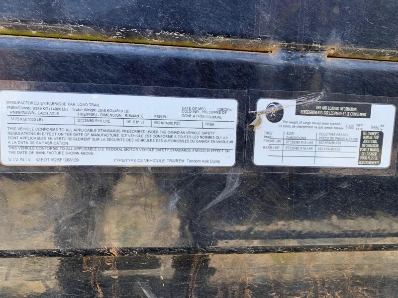 2015 Load Trail DT14 83 x 16 Dump Trailer