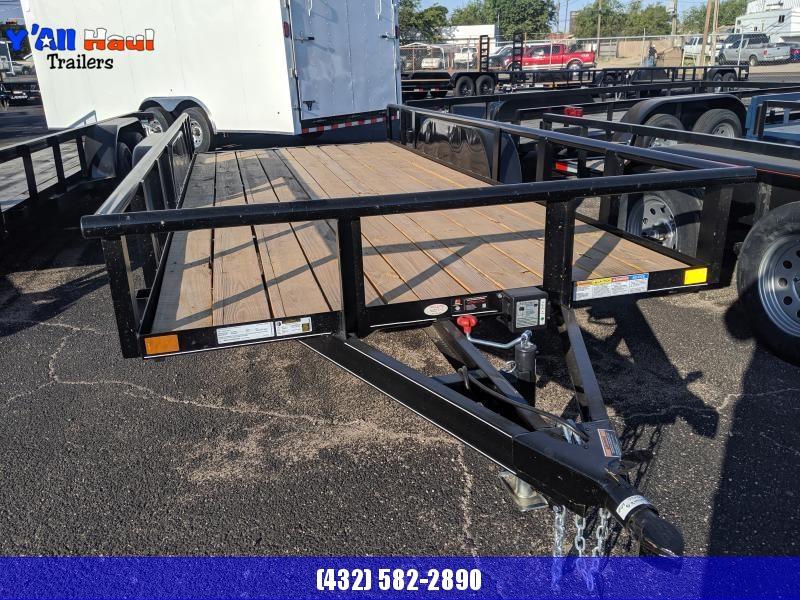 2019 BCI Trailers 77X16 PT Ramps Brake 3500lb Utility Trailer