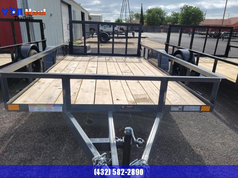 2021 BCI Trailers 77x12 S Dovetail Gate Gray
