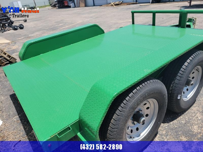 2021 BCI Trailers 77X10 5.2K Steel Floor GREEN Utility Trailer