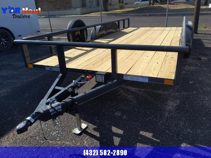 2021 BCI Trailers 83x18 PT Ramps Brake Spare Tire Utility Trailer