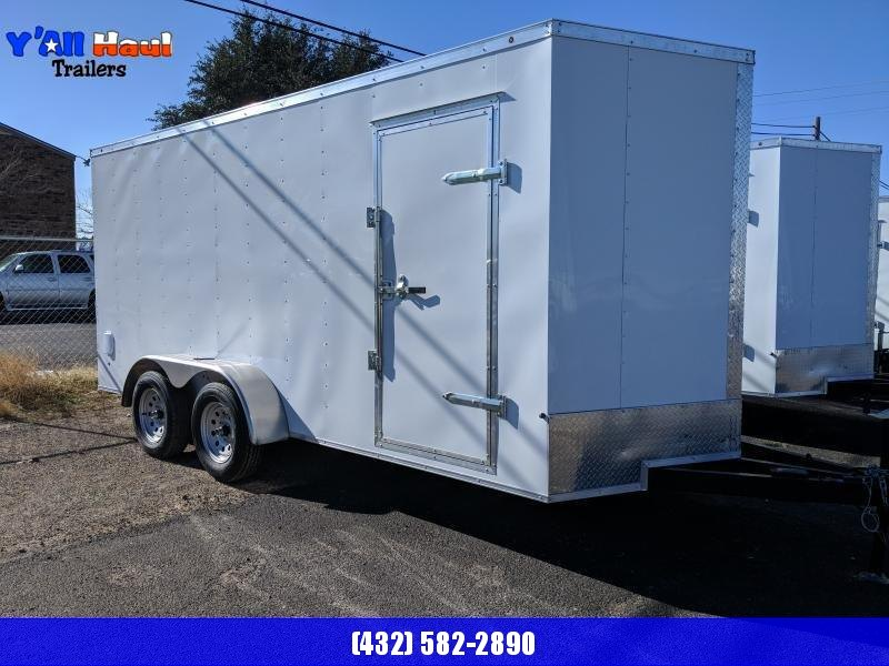 Prime 7x16 Enclosed BLACK Trailer