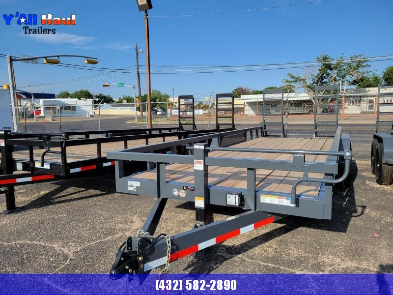 2021 BCI Trailers 83X22  7K Square Top Stand Up Ramp 2' Dovetail Utility Trailer