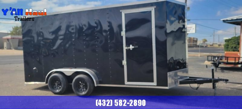 2022 Salvation Trailers 7x16 Black Enclosed Cargo Trailer