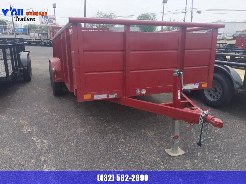 2021 BCI Trailers 77x16  4' Solid sides 4' Gate RED