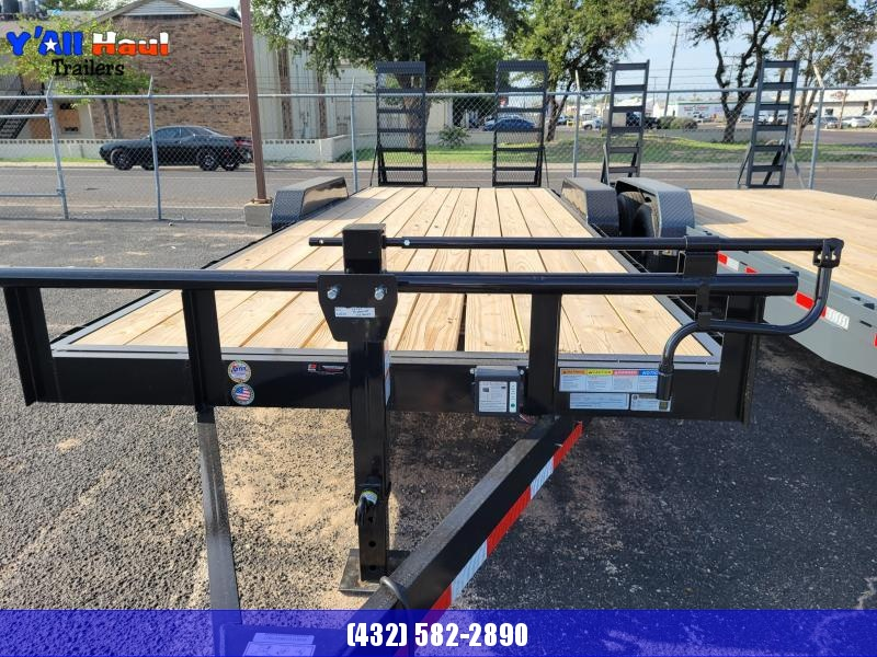 2021 BCI Trailers 83X22  7K  Stand Up Ramp 2' Dovetail Equipment Trailer