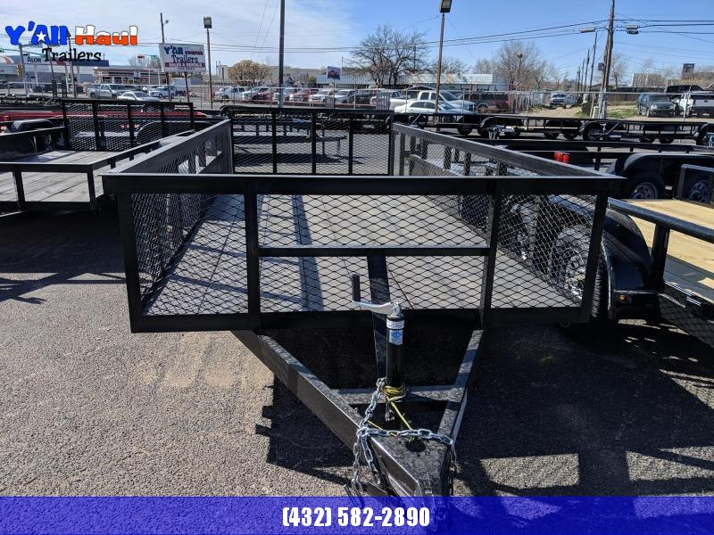 """C&M 76 x 16 Tandem Utility Trailer 2' Dovetail 32""""Gate 2' Expanded Metal Sides"""