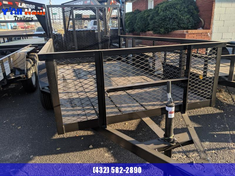 2019 C&M 5x10 Single 4'Gate 2' Sides Utility Trailer