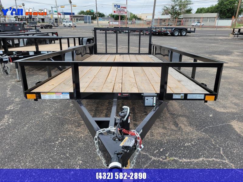 2021 BCI Trailers 77x16 Dovetail Gate Brake Utility Trailer