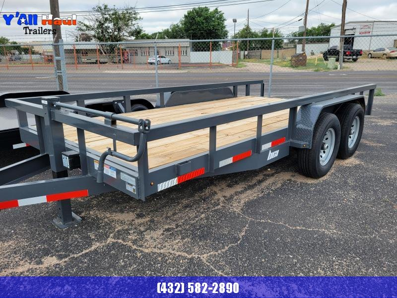 2021 BCI Trailers 83X16 7k Gray  Square Top Dovetail Ramps Utility Trailer