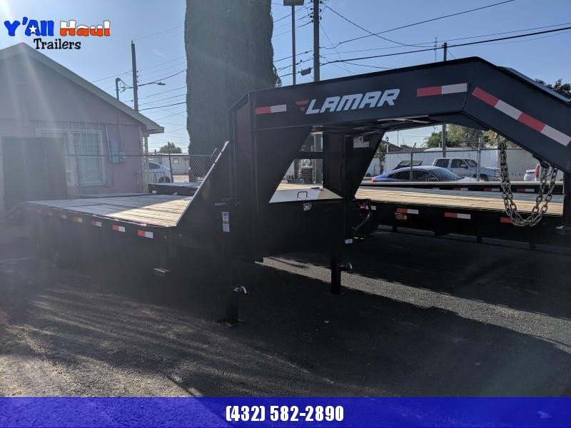 2019 Lamar Trailers 102x22 Gooseneck 10k axles Rhino ramps