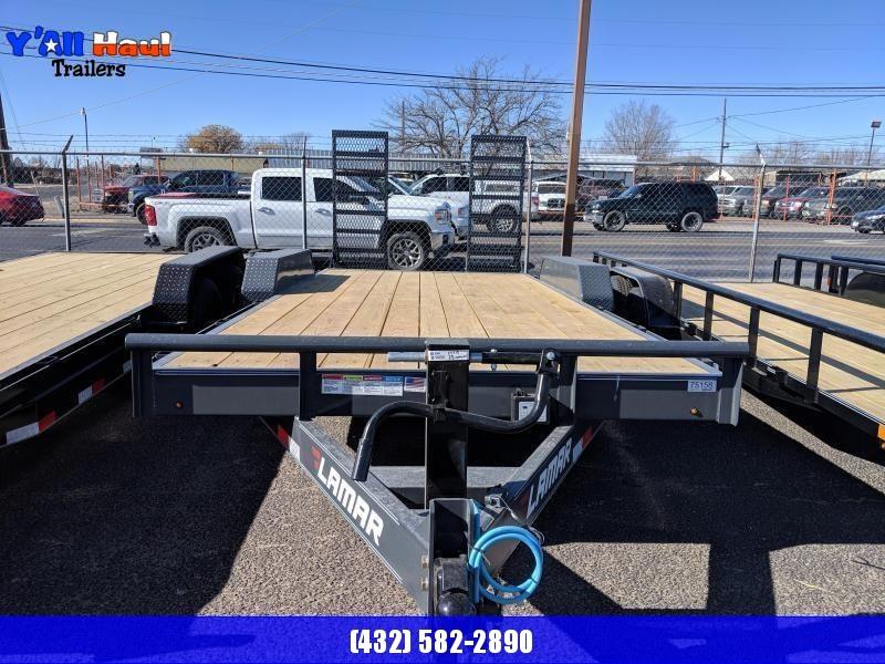 Lamar 83 X 18 7K Equipment Trailer Stand up Ramps