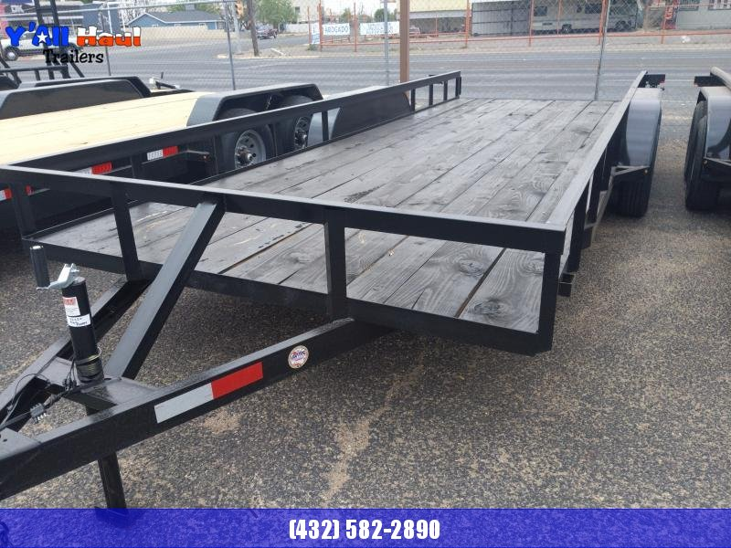2021 C&M 82x20 Angle Top Ramps Utility Trailer