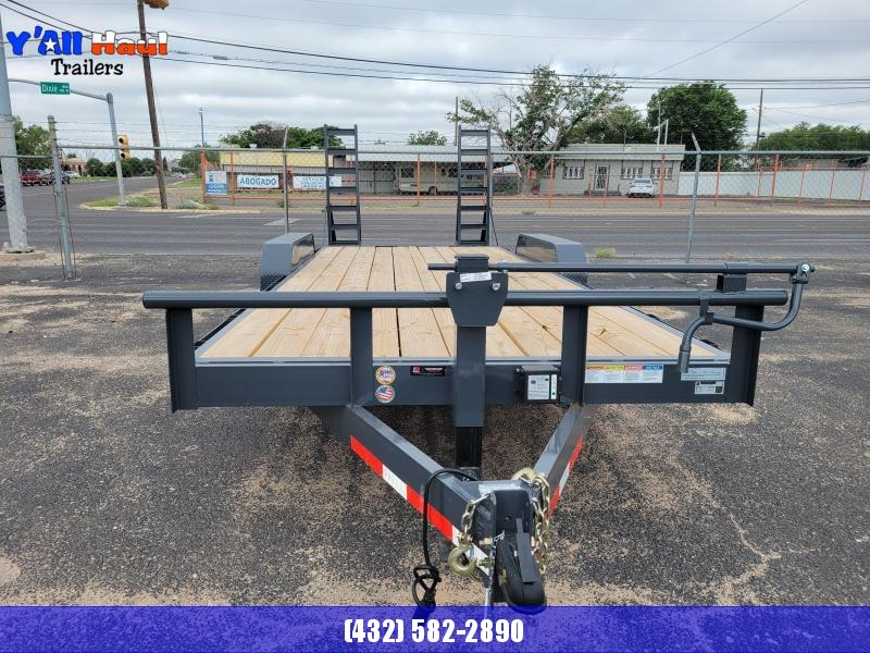 2021 BCI Trailers 83X20  Dovetail Standup Ramps Equipment Trailer