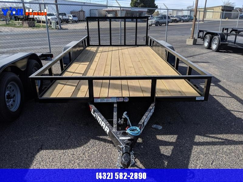 Lamar Trailers 83 x 16 Dovetail Gate Utility Trailer