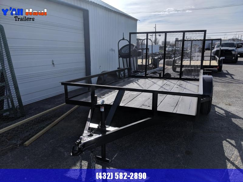 C&M 76x12  Single 4'Gate Utility Trailer