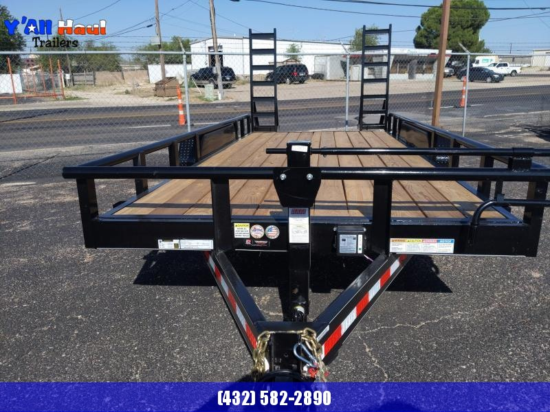 2021 BCI Trailers 83x18 7k Equipment Hauler stand up Ramps Utility Trailer