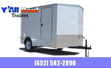 2021 Pace American 6x16 White Ramp Door Enclosed Cargo Trailer