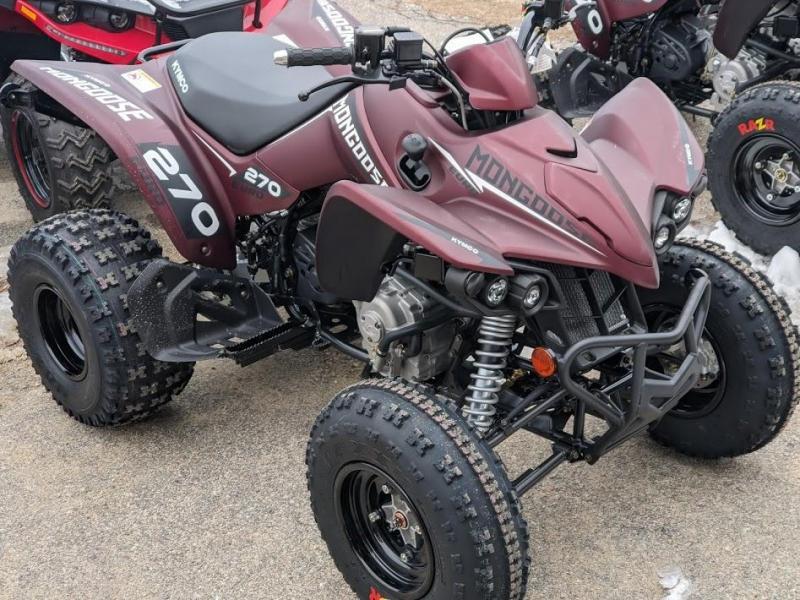 2021 KYMCO MONGOOSE 270 EURO Mid-Size Sport Performance ATV AGE 14+
