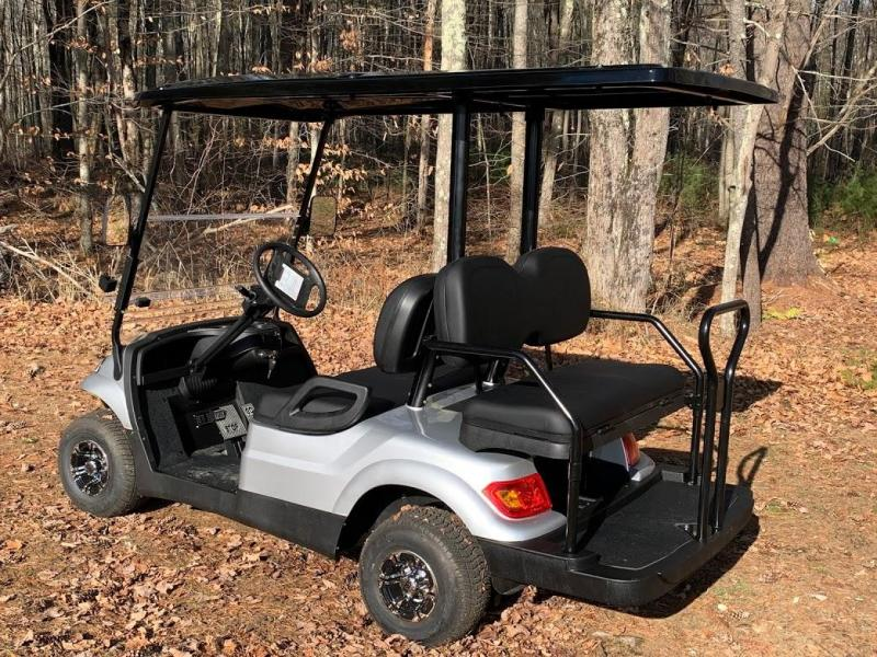WINTER SPECIAL! NEW LVT LUXURY 48 Volt 4 PERSON electric golf car-Silver