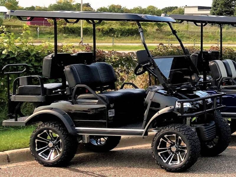 New Evolution LIFTED STREET LEGAL LSV 25MPH golf car BLACK