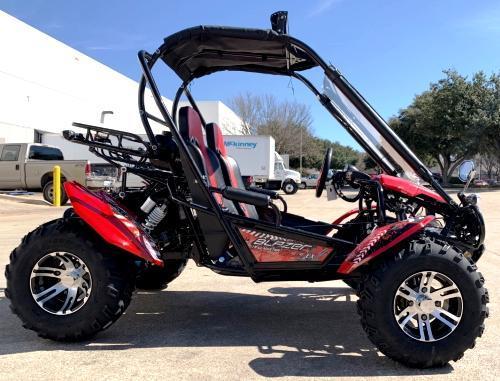 NEW Trailmaster Blazer 200-EXGo Kart Teen-Adult 43MPH REVERSE BLUE!