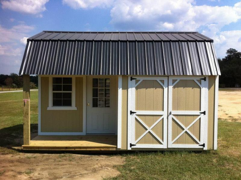 Brand New Old Hickory Lofted Barn with Side Porch 8' x 10'