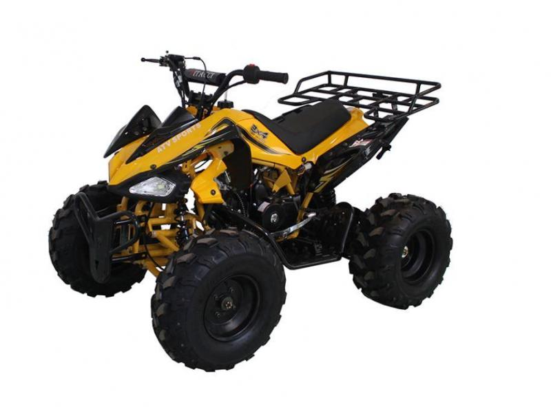 Fall Special! New Vitacci Jet 9 125CC youth ATV 2WD w/reverse-Yellow-30MPH