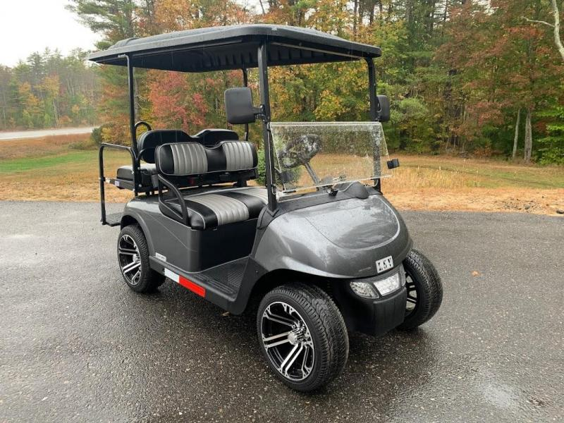 WINTER CLEARANCE!2021 MidSouth LSV EZ-GO RXV 25MPH Street Legal 4 pass golf cart-Charcoal Metallic