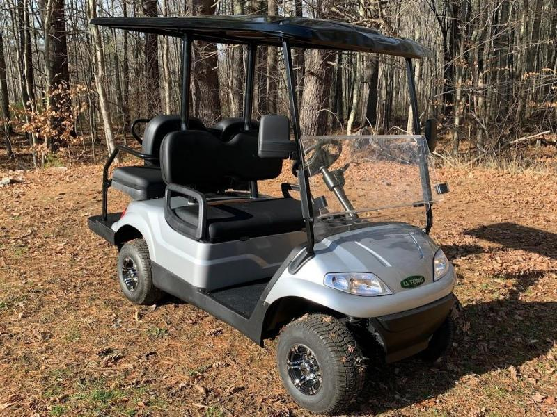 WINTER CLEARANCE! NEW LVT LUXURY 48 Volt 4 PERSON electric golf car-Silver