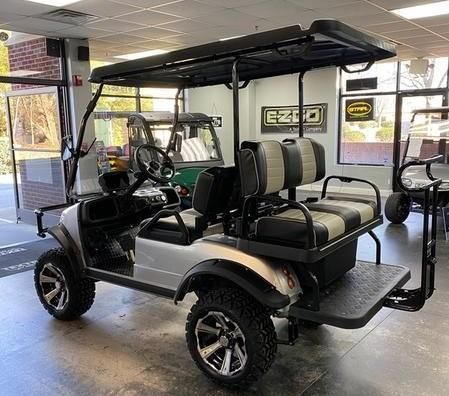 New Evolution LIFTED STREET LEGAL LSV 25MPH golf car SILVER