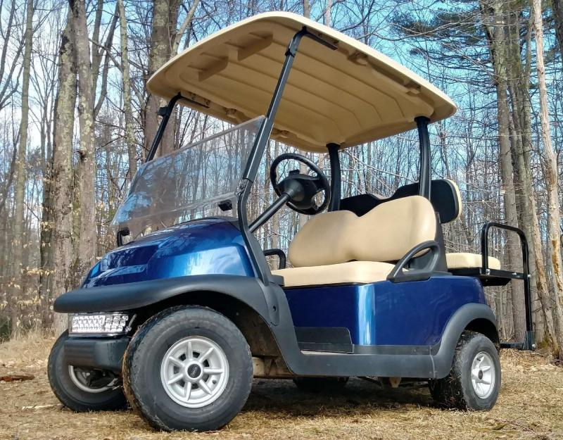 Club Car Precedent 4 pass electric golf cart-SAPPHIRE BLUE-BEAUTIFUL!