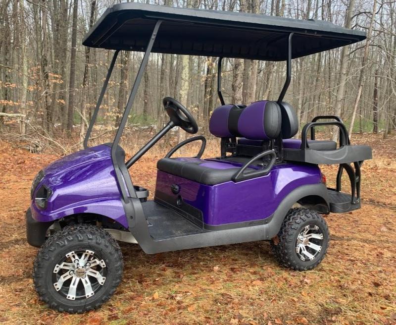 "CUSTOM Precedent Metallic Purple Phantom ELEC 4PASS 4"" LIFT"