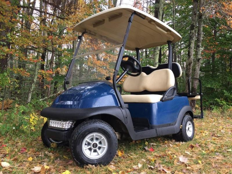 Club Car Precedent 4 Person 48 volt BLUE 2019 BATTERIES w/LED LIGHTS